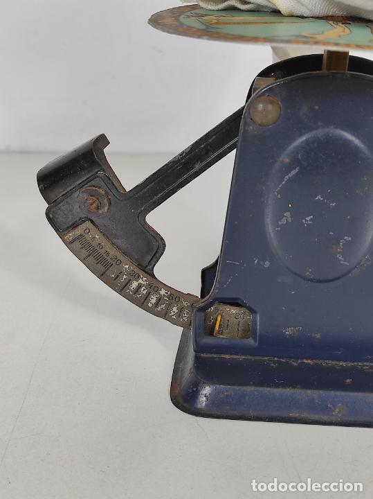 Antigüedades: Antigua Balanza para Cartas - Publicidad Farmacias, Dr Bengué, París - Bascula de Colección - Foto 3 - 234528785