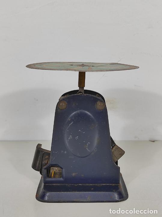 Antigüedades: Antigua Balanza para Cartas - Publicidad Farmacias, Dr Bengué, París - Bascula de Colección - Foto 6 - 234528785