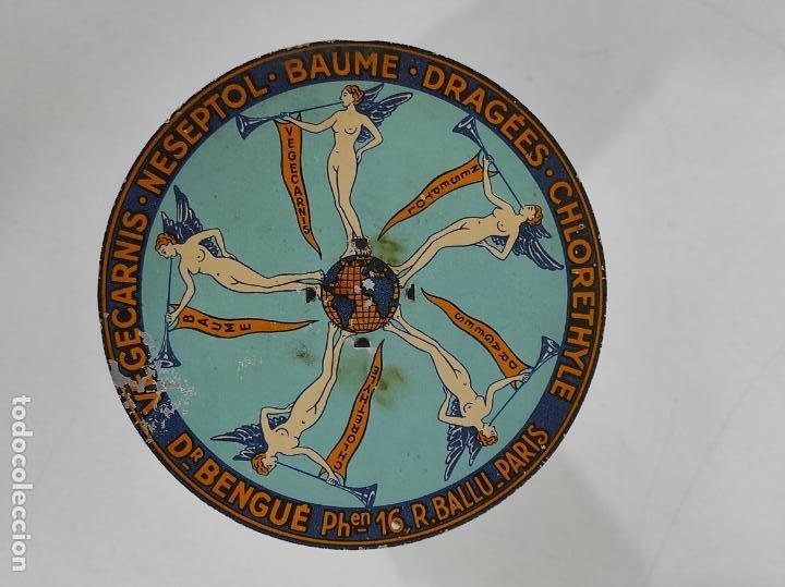 Antigüedades: Antigua Balanza para Cartas - Publicidad Farmacias, Dr Bengué, París - Bascula de Colección - Foto 18 - 234528785