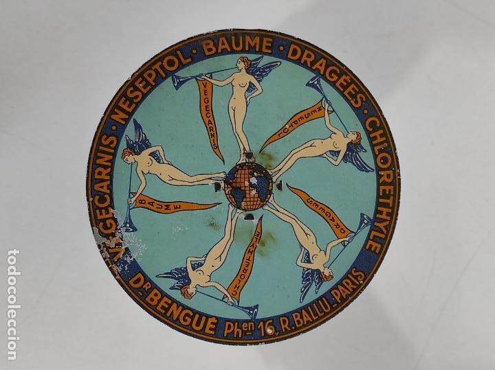 ANTIGUA BALANZA PARA CARTAS - PUBLICIDAD FARMACIAS, DR BENGUÉ, PARÍS - BASCULA DE COLECCIÓN (Antigüedades - Técnicas - Medidas de Peso - Básculas Antiguas)