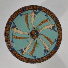 Antigüedades: ANTIGUA BALANZA PARA CARTAS - PUBLICIDAD FARMACIAS, DR BENGUÉ, PARÍS - BASCULA DE COLECCIÓN. Lote 234528785