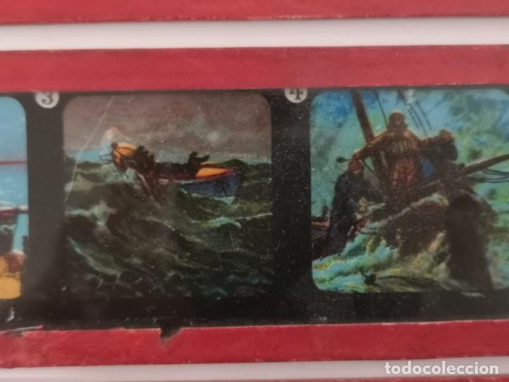 Antigüedades: Lote formado por seis placas de vidrio para linterna mágica - Foto 9 - 234575440