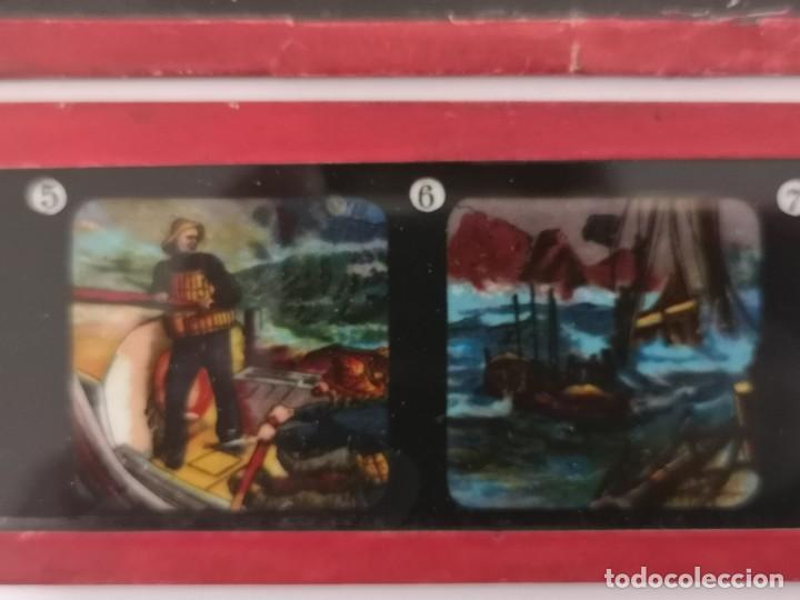 Antigüedades: Lote formado por seis placas de vidrio para linterna mágica - Foto 10 - 234575440
