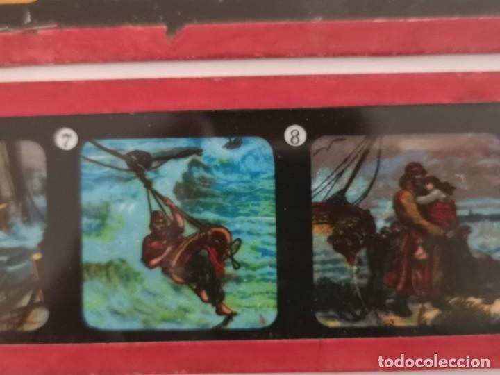 Antigüedades: Lote formado por seis placas de vidrio para linterna mágica - Foto 11 - 234575440
