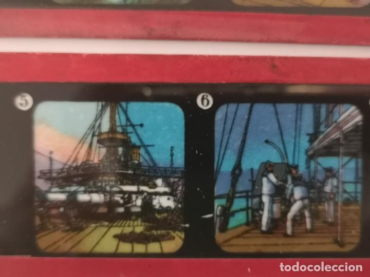 Antigüedades: Lote formado por seis placas de vidrio para linterna mágica - Foto 15 - 234575440