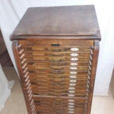 Antigüedades: ARMARIO IMPRENTA ANTIGUO - CHIVALETE. Lote 234609520