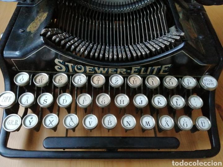 Antigüedades: Máquina de escribir Stoewer Elite. - Foto 7 - 234682050