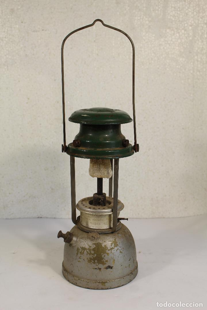 Antigüedades: lampara farol apalux willis bates Aceite de Parafina Lámpara Linterna.- - Foto 2 - 268868024
