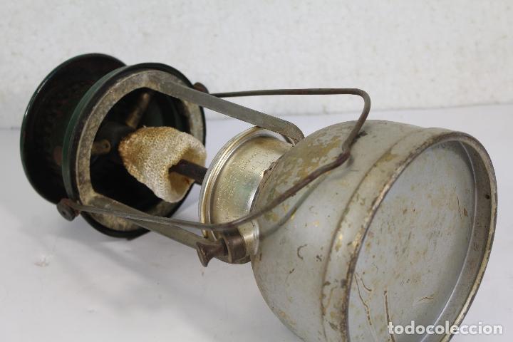 Antigüedades: lampara farol apalux willis bates Aceite de Parafina Lámpara Linterna.- - Foto 4 - 268868024