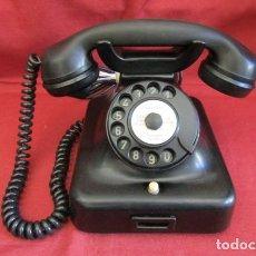 Teléfonos: TELÉFONO DE MESA ALEMÁN ANTIGUO DE BAQUELITA MODELO W38 HECHO EN ALEMANIA A PARTIR FINALES AÑOS 30. Lote 234862035