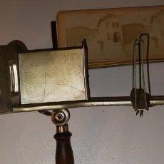 Antigüedades: VISOR ESTEREOSCOPICO, THE PERFESCOPE, PATENT OCT 1895.. Lote 234927360