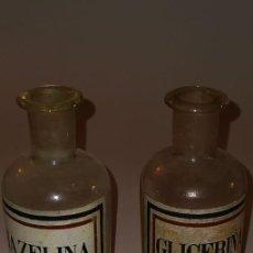 Antigüedades: BOTELLAS DE FARMACIA, CRISTAL, AÑOS 1880 APROX.. Lote 234933700