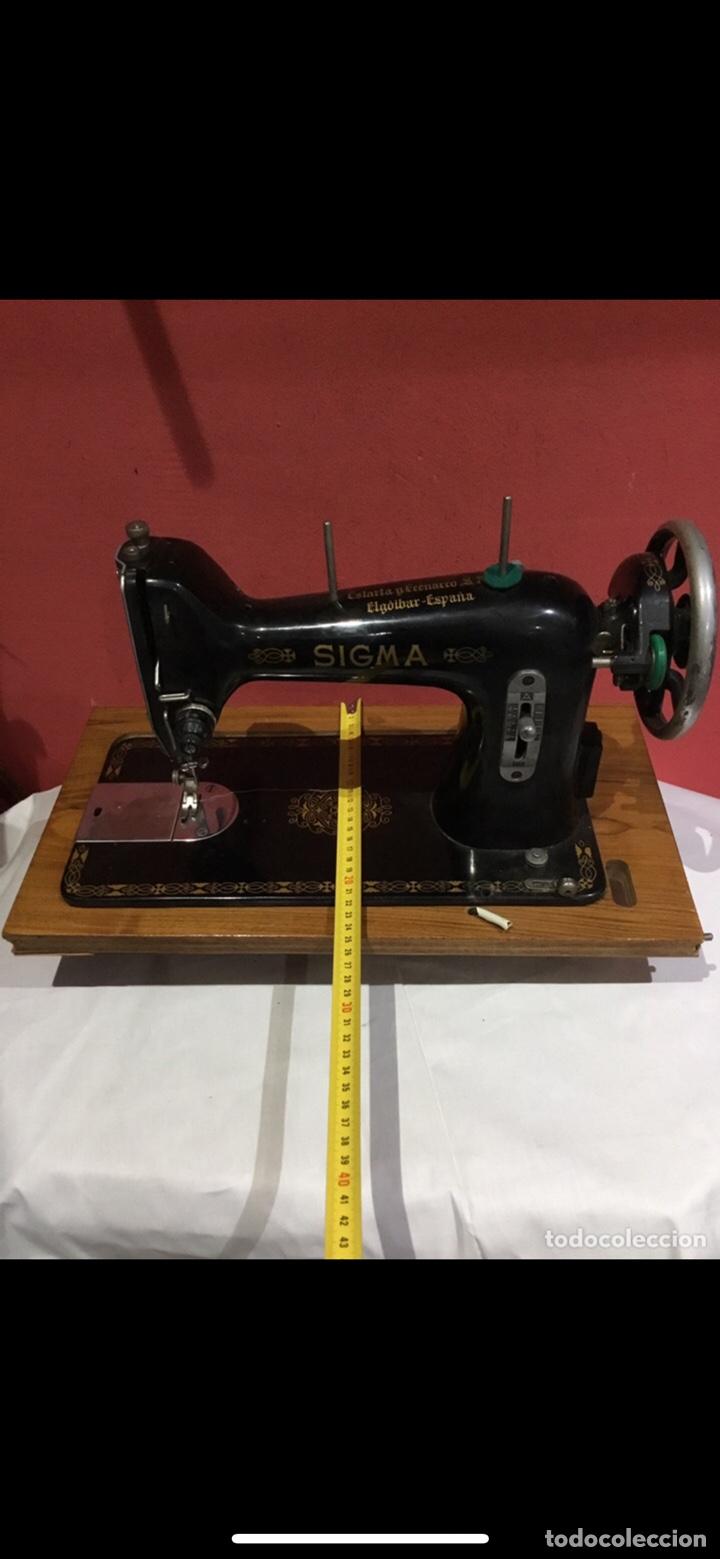Antigüedades: Antigua maquina de coser sigma - Foto 3 - 235072005