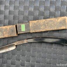 Antigüedades: NAVAJA AFEITAR COCODRILO 14. Lote 235146325