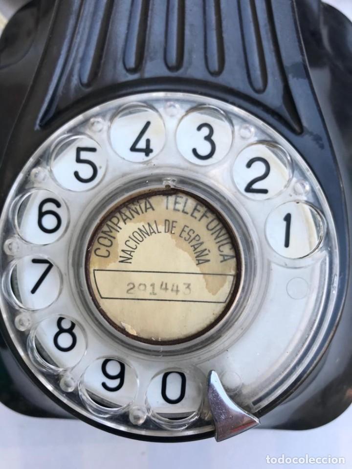 Teléfonos: TELÉFONO PARED BAQUELITA NEGRO AÑOS 60 STANDARD ELÉCTRICA CTNE - Foto 2 - 235199865