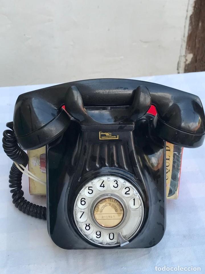 Teléfonos: TELÉFONO PARED BAQUELITA NEGRO AÑOS 60 STANDARD ELÉCTRICA CTNE - Foto 3 - 235199865