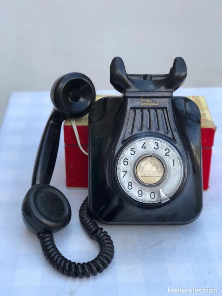 Teléfonos: TELÉFONO PARED BAQUELITA NEGRO AÑOS 60 STANDARD ELÉCTRICA CTNE - Foto 4 - 235199865