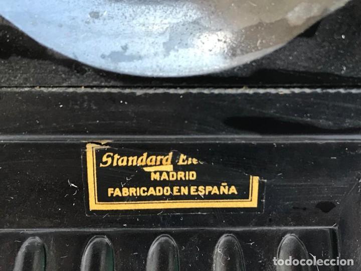Teléfonos: TELÉFONO PARED BAQUELITA NEGRO AÑOS 60 STANDARD ELÉCTRICA CTNE - Foto 6 - 235199865