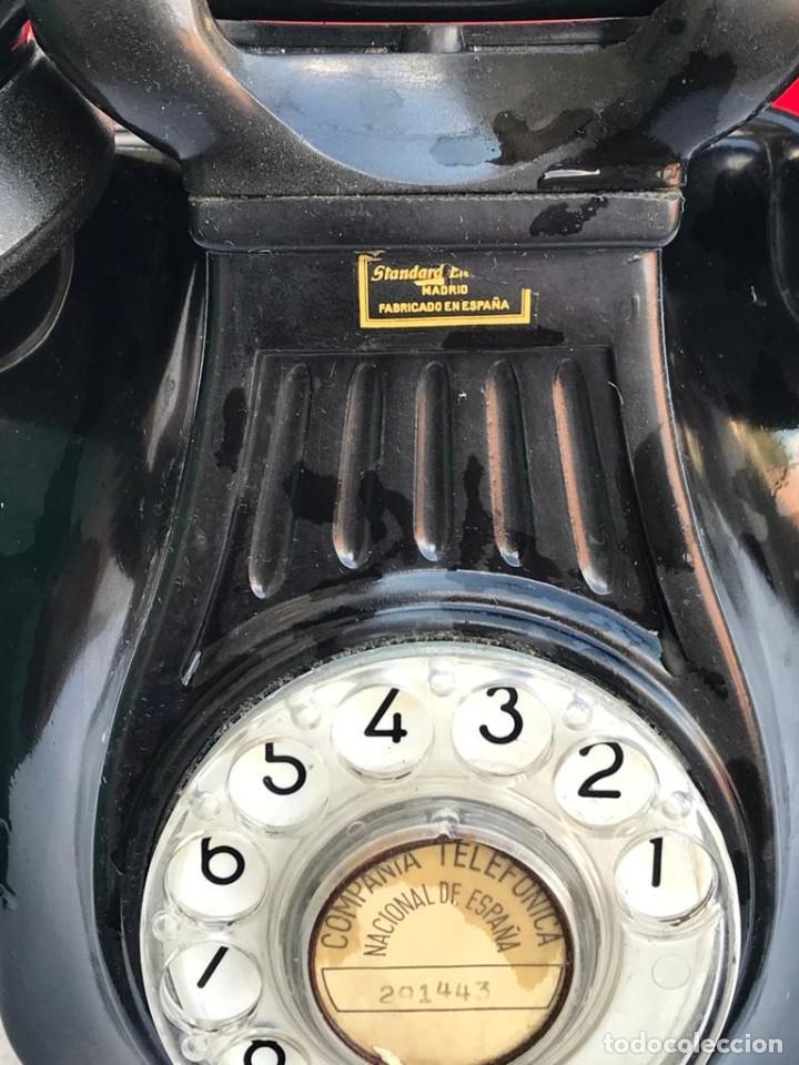 Teléfonos: TELÉFONO PARED BAQUELITA NEGRO AÑOS 60 STANDARD ELÉCTRICA CTNE - Foto 8 - 235199865
