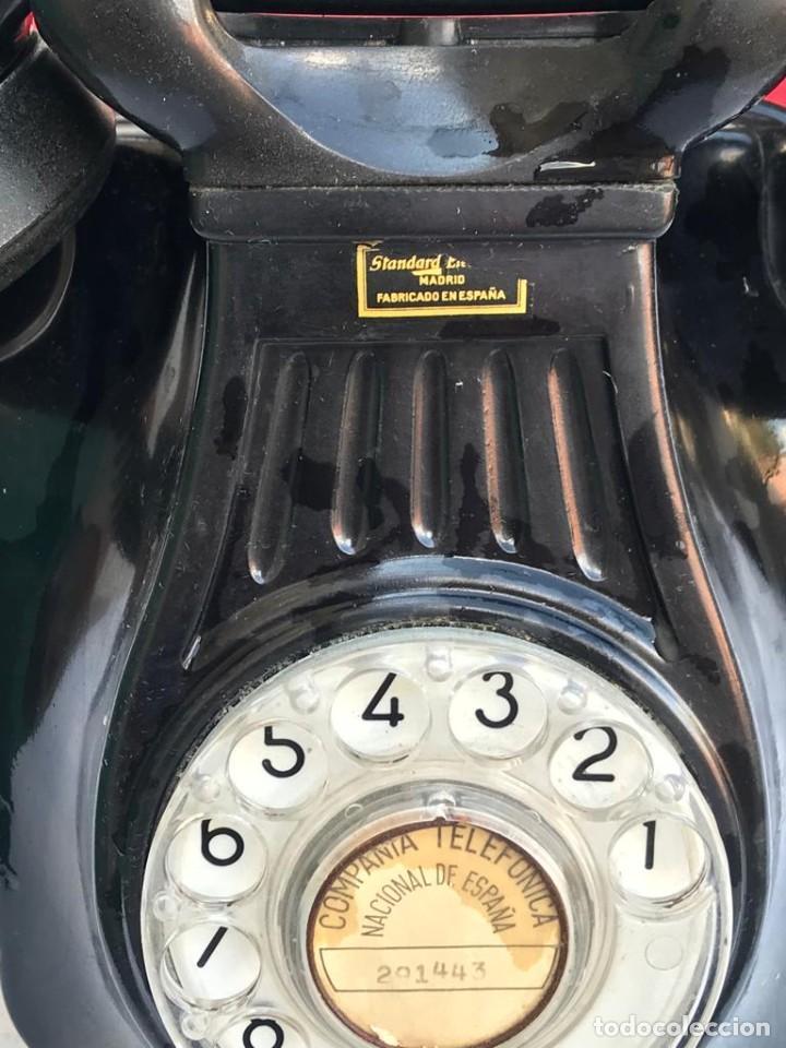 Teléfonos: TELÉFONO PARED BAQUELITA NEGRO AÑOS 60 STANDARD ELÉCTRICA CTNE - Foto 9 - 235199865
