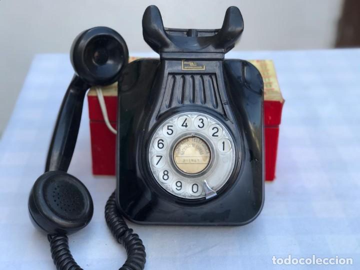 Teléfonos: TELÉFONO PARED BAQUELITA NEGRO AÑOS 60 STANDARD ELÉCTRICA CTNE - Foto 10 - 235199865