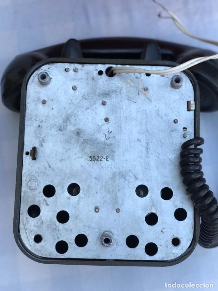 Teléfonos: TELÉFONO PARED BAQUELITA NEGRO AÑOS 60 STANDARD ELÉCTRICA CTNE - Foto 11 - 235199865