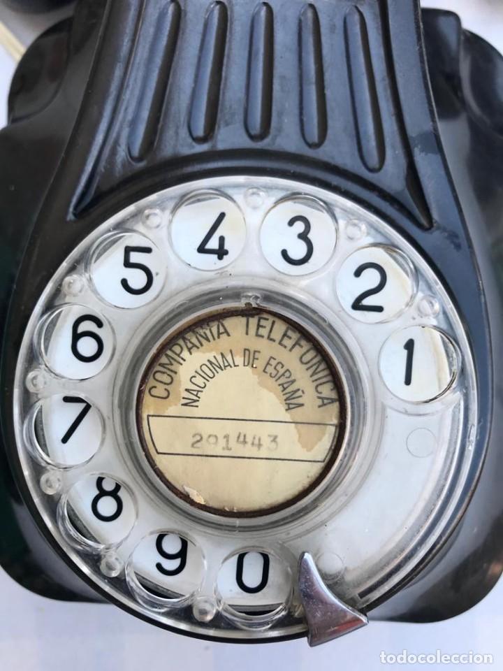 Teléfonos: TELÉFONO PARED BAQUELITA NEGRO AÑOS 60 STANDARD ELÉCTRICA CTNE - Foto 13 - 235199865