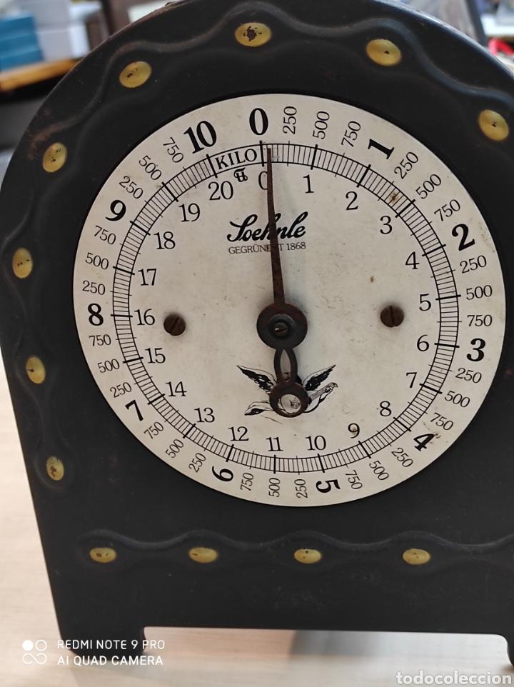 BASCULA ANTIGUA, PRINCIPIO 1900. TIENE BASCULADOR. 30 CM. ALTURA. (Antigüedades - Técnicas - Medidas de Peso - Básculas Antiguas)