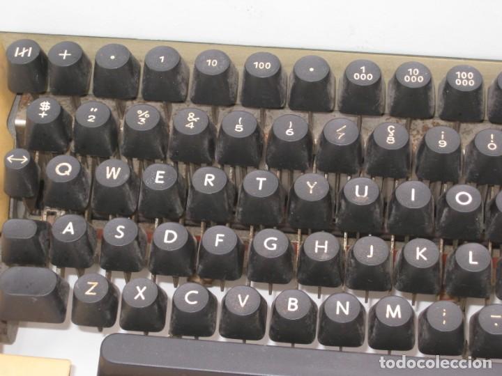 Antigüedades: Antigua maquina escribir Erika Daro. 16kg. - Foto 6 - 235245100
