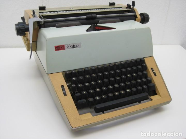 Antigüedades: Antigua maquina escribir Erika Daro. 16kg. - Foto 14 - 235245100