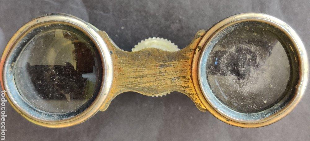 Antigüedades: Binoculares o anteojos de teatro de nácar - Foto 3 - 235258185