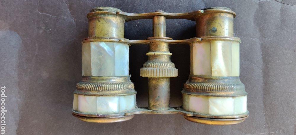 BINOCULARES O ANTEOJOS DE TEATRO DE NÁCAR (Antigüedades - Técnicas - Instrumentos Ópticos - Binoculares Antiguos)