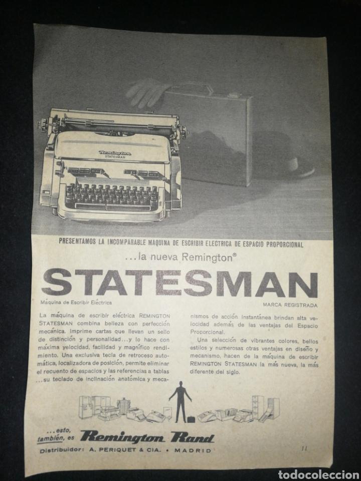 (1973)REMINGTON MÁQUINA ESCRIBIR, ANTIGUA PUBLICIDAD, 18X13 CM (Antigüedades - Técnicas - Máquinas de Escribir Antiguas - Remington)