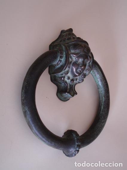 BELLA ALDABA DE BRONCE (Antigüedades - Técnicas - Cerrajería y Forja - Aldabas Antiguas)