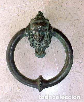 Antigüedades: Bella aldaba de bronce - Foto 2 - 235537080