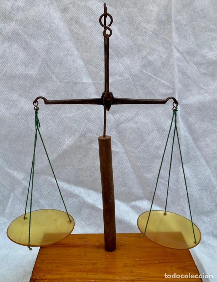 BALANZA JOYERO ANTIGUA (Antigüedades - Técnicas - Medidas de Peso - Balanzas Antiguas)