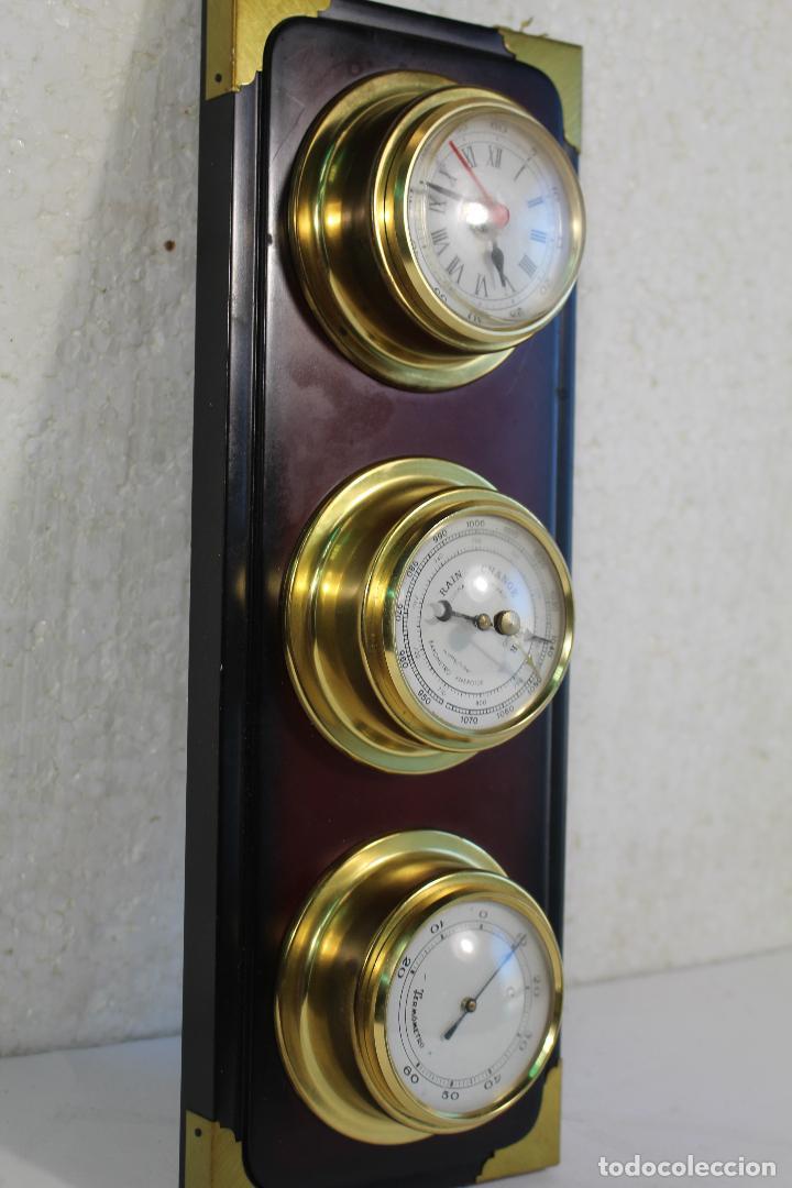 Antigüedades: barometro termometro reloj quartz - Foto 2 - 268867394