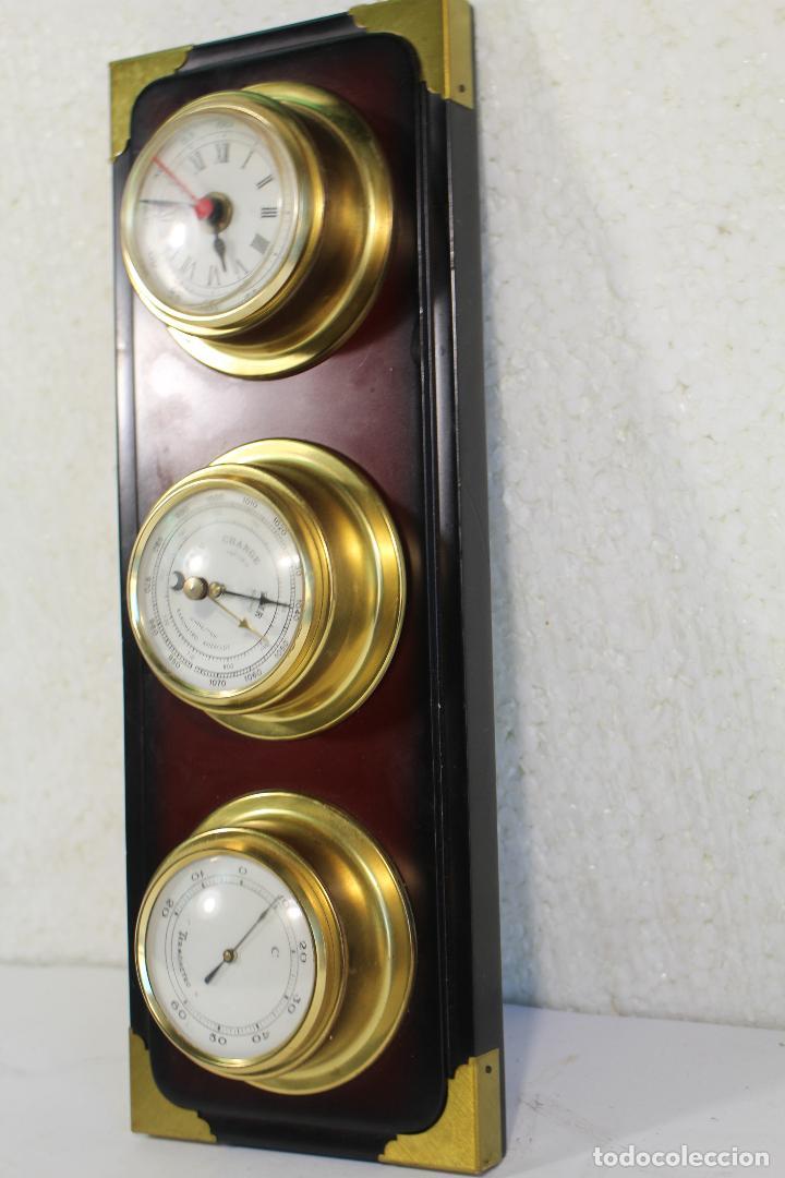 Antigüedades: barometro termometro reloj quartz - Foto 3 - 268867394