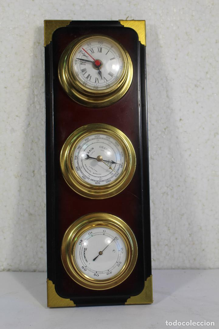 Antigüedades: barometro termometro reloj quartz - Foto 4 - 268867394