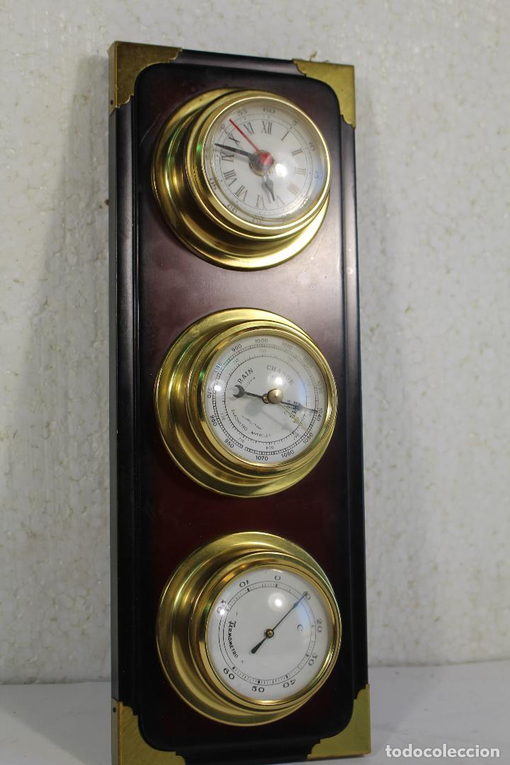 Antigüedades: barometro termometro reloj quartz - Foto 5 - 268867394