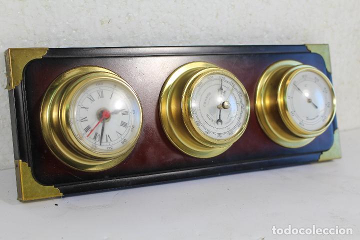 Antigüedades: barometro termometro reloj quartz - Foto 6 - 268867394