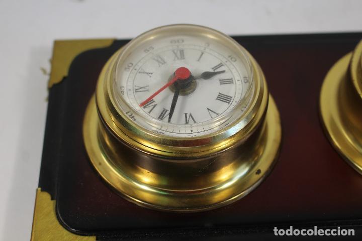 Antigüedades: barometro termometro reloj quartz - Foto 8 - 268867394