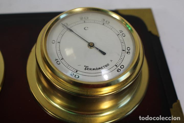 Antigüedades: barometro termometro reloj quartz - Foto 9 - 268867394