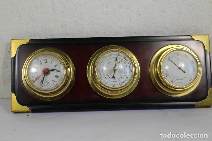 Antigüedades: barometro termometro reloj quartz - Foto 10 - 268867394