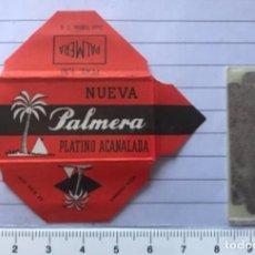 Antigüedades: CU 10 CUCHILLA DE AFEITAR NUEVA PALMERA PLATINO ACANALADA MODELO 10 HOJA. Lote 235705225