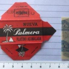 Antigüedades: CU 9 CUCHILLA DE AFEITAR NUEVA PALMERA PLATINO ACANALADA MODELO 9 HOJA. Lote 235705345