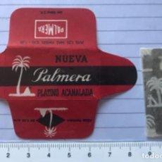 Antigüedades: CU 11 CUCHILLA DE AFEITAR NUEVA PALMERA PLATINO ACANALADA MODELO 11 HOJA. Lote 235711205