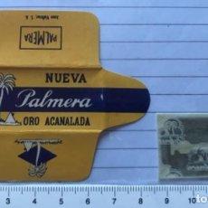 Antigüedades: CU 12 CUCHILLA DE AFEITAR NUEVA PALMERA ORO ACANALADA MODELO 12 HOJA. Lote 235714475