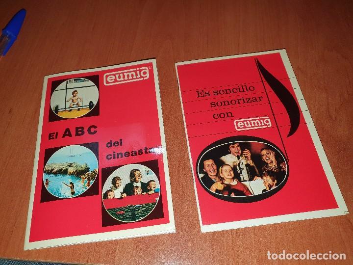 EUMIG, FOLLETOS PUBLICITARIOS PARA LOS CINEASTAS AMATEUR (Antigüedades - Técnicas - Aparatos de Cine Antiguo - Proyectores Antiguos)