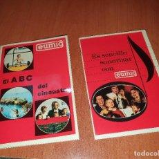 Antigüedades: EUMIG, FOLLETOS PUBLICITARIOS PARA LOS CINEASTAS AMATEUR. Lote 235799045